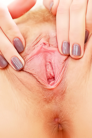Teen Kalisy Spreading Juicy Vagina