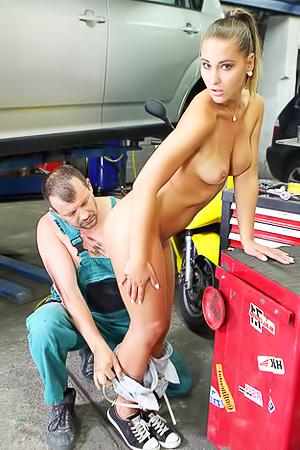 Naomi Bennet Fucked Hard In Auto Service