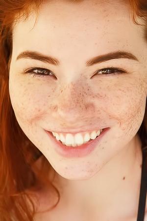 Sabrina Lynn Freckled Redhead Zishy