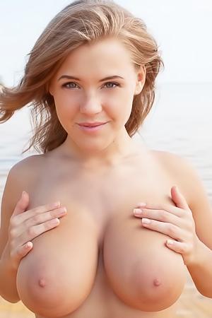 Busty Beach Babe Viola Baley