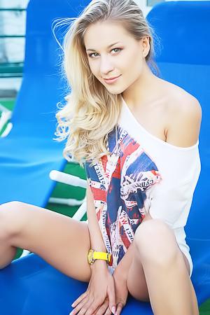 Hot beauty Candice B is evidently in a flirtatious mood