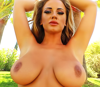 Lana Parker Strips Her Pink Bikini To Show Huge Breasts