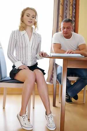 Young Blonde Ksenia Nubiles Drilled In Ass
