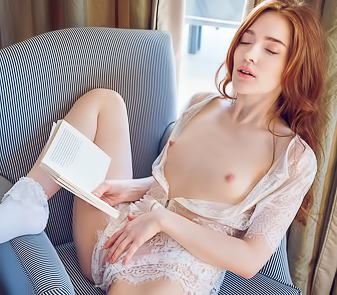 Sensual Teen Girl Jia Lissa Reading And Pleasures Herself
