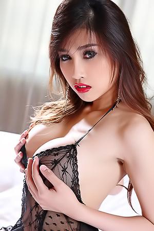 Sexy Asian Farsai In Hot Lingerie
