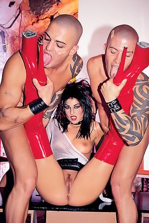 Silvia Lancome Latex Boots Fetish