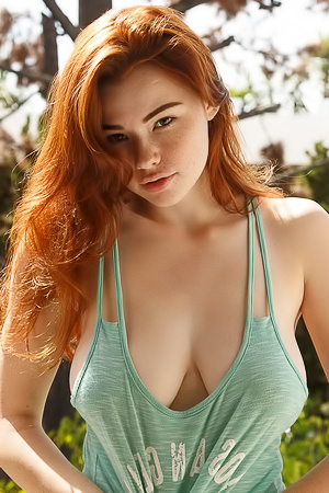 Redhead Sabrina Lynn in a Loose Top!