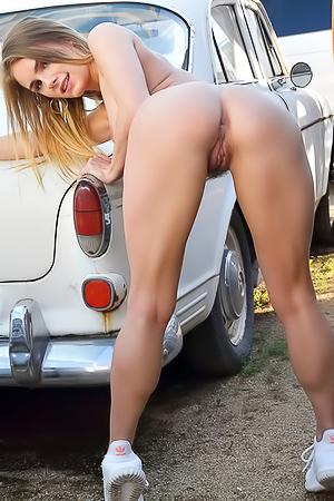FTV Natalie Getting Naked On Car Parking