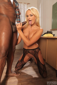 Blonde Legged Babe Ivana Sugar Getting Anal Fucked By Long Black Cock